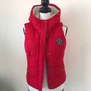 Super Cute Abercrombie & Fitch Hoodie Puffer Vest